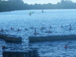Just before the swim start