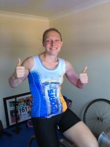 Back on the bike, 24 hours after surgery – believe it or not, this was under doctor's orders!