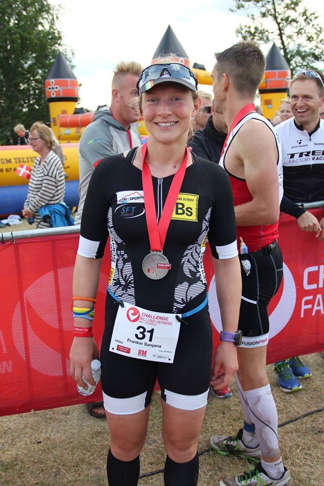 post finish line smile