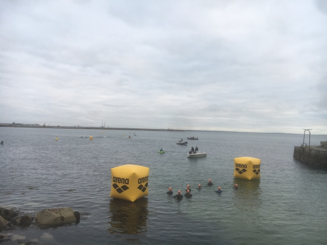 Pro women's swim start in beautiful conditions